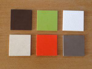 eine kleine Auswahl aus den vielen Silestonefarben