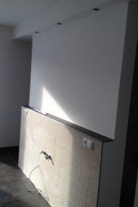 Fertige Wand für Waschtischmontage